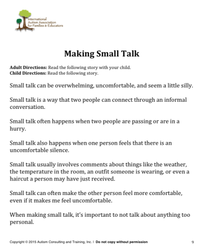 making small talk teen ed